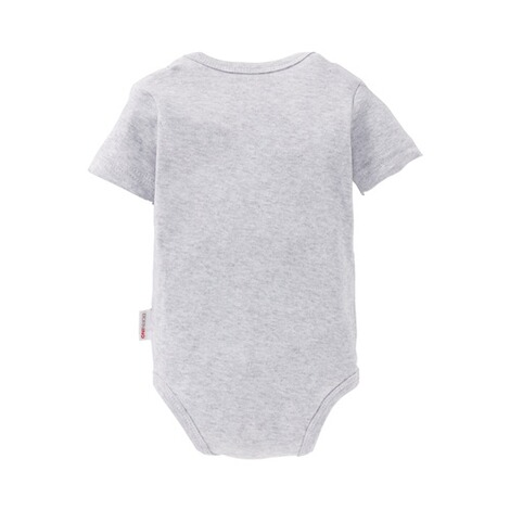Bornino BASICS Body kurzarm  grau 2