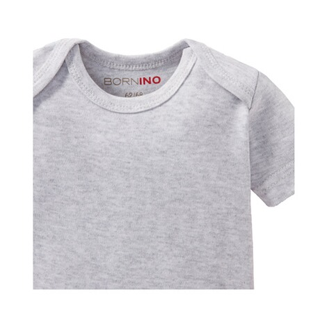 Bornino BASICS Body kurzarm  grau 3