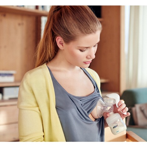 PHILIPS AVENT Naturnah Komfort Handmilchpumpe SCF330//20 Natural inkl Flasche
