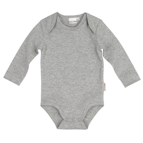 Bornino BASICS Body langarm  grau 1