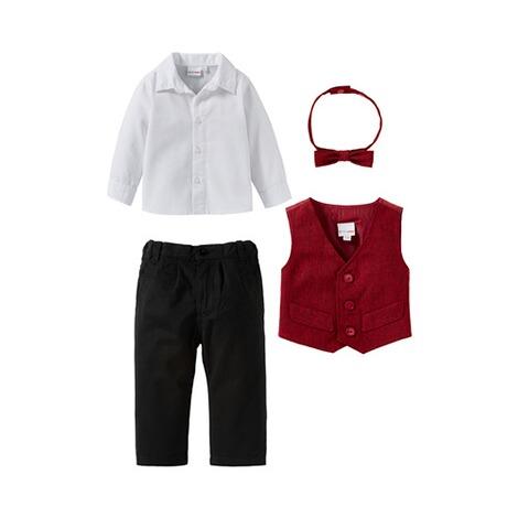 bornino festliche mode 4 tlg set anzug mit weste hemd. Black Bedroom Furniture Sets. Home Design Ideas