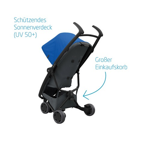 Quinny ZAPP FLEX Buggy mit Liegefunktion  Blue on Graphite 4