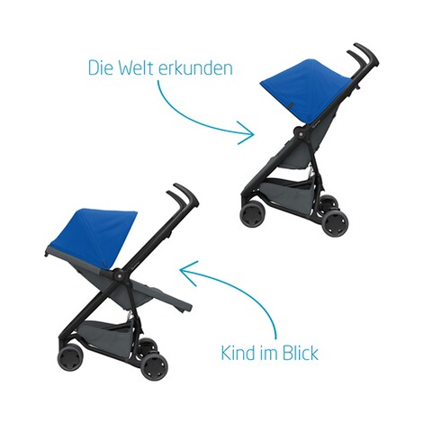 Quinny ZAPP FLEX Buggy mit Liegefunktion  Blue on Graphite 5