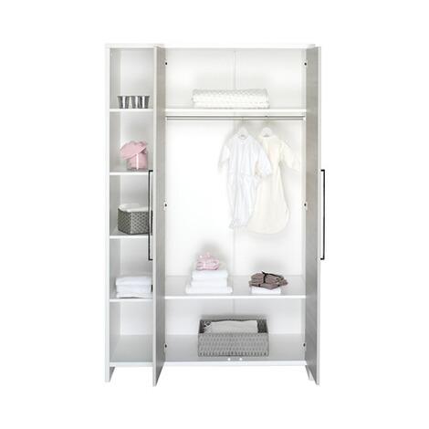 Schardt 3 Tlg Babyzimmer Eco Silber Mit 2 Türigem Kleiderschrank