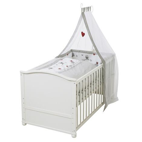 Roba Babybett Mit Ausstattung Adam Eule 70x140 Cm Weiß