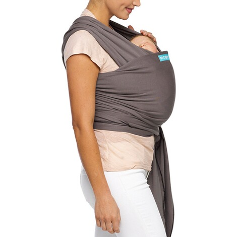 Moby  Classic Wrap Babytragetuch, 550cm  slate/black 4