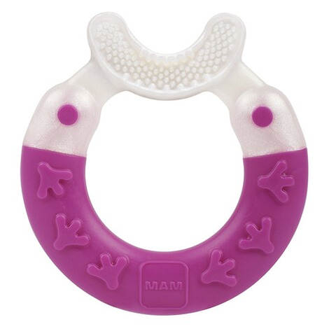 MAM  L'anneau de dentition Bite & Brush  pink 1