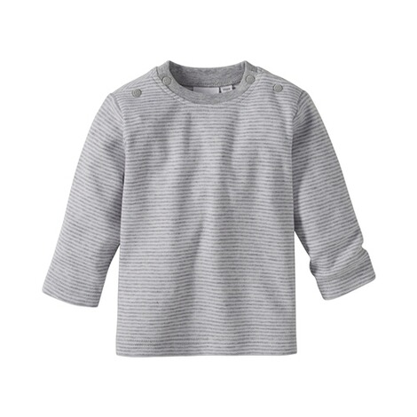 Baby-Langarmshirt aus Reiner Baumwolle mit Rundhalsausschnitt /& Druckkn/öpfen an Schulter Bornino Shirt Langarm Mouse /& Elephant