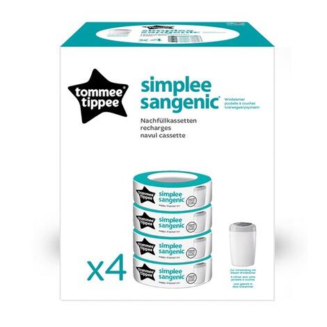 tommee tippee sangenic nachf llkassetten simplee sangenic 4er pack online kaufen baby walz. Black Bedroom Furniture Sets. Home Design Ideas