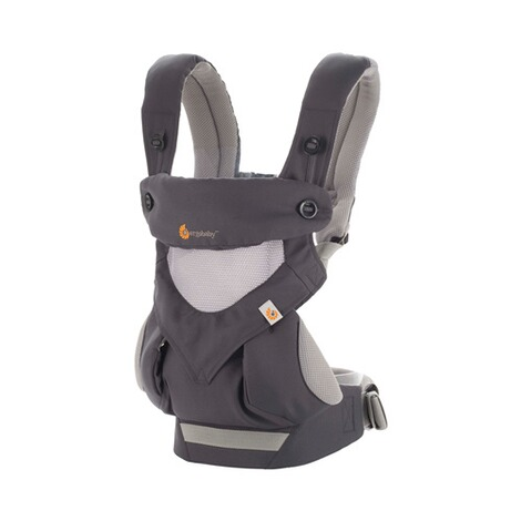 Ergobaby® 360 Cool Air Mesh Babytrage, 4 Tragepositionen  Carbon Grey 1