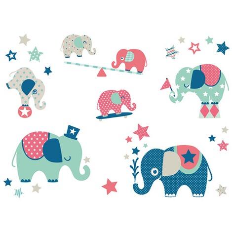 Anna Wand Design Minis Wandsticker Elefanten Boys