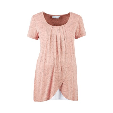 2hearts WE LOVE BASICS Umstands- und Still-T-Shirt 2in1  Rose Bubbles 1