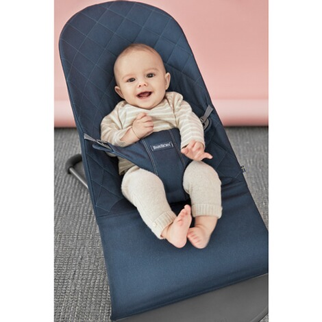 BabyBjörn  Babywippe Bliss Cotton  Midnight blue 5