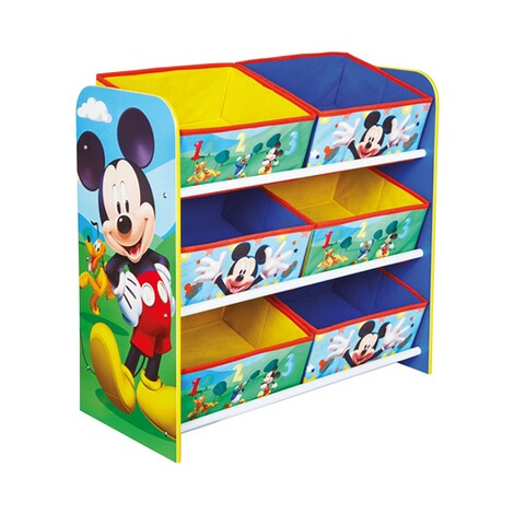 Worlds ApartDISNEY MICKEY MOUSE & FRIENDSAufbewahrungsregal + 6 Boxen 7