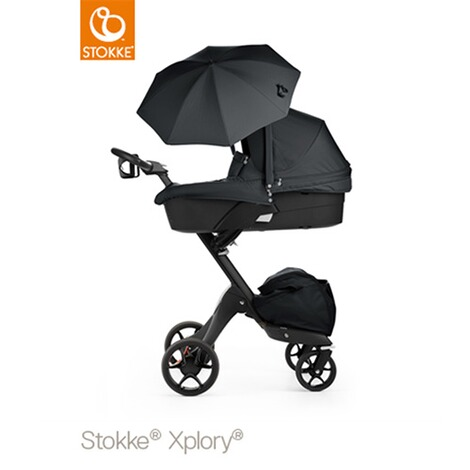 stokke xplory v5 kinderwagen black mit sonnenschirm und. Black Bedroom Furniture Sets. Home Design Ideas