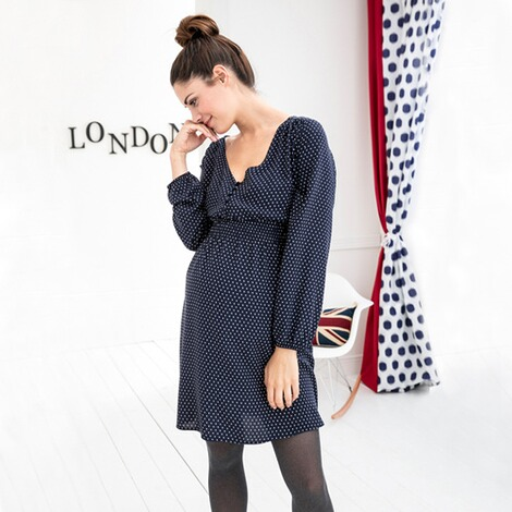 2hearts WE LOVE BASICS Umstands- und Still-Kleid Dots 6