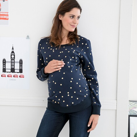2hearts  Umstands-Pullover Golden Dots 5