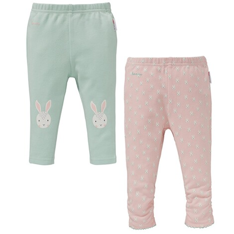 BORNINO  2er-Pack Leggings Hase 1