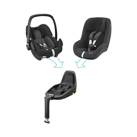 Maxi-Cosi ROCK i-Size Babyschale  Black Grid 9