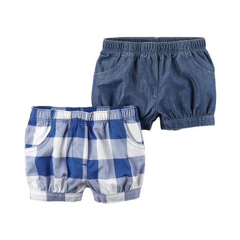 CARTER´S  2er-Pack Shorts Karo 1