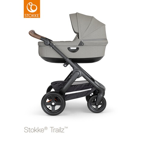 Stokke®  Tragewanne für Trailz, Crusi  black/brushed grey 4