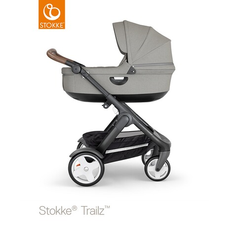 Stokke®  Tragewanne für Trailz, Crusi  black/brushed grey 3