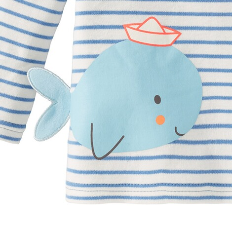 Bornino SEASIDE Shirt langarm Wal 4