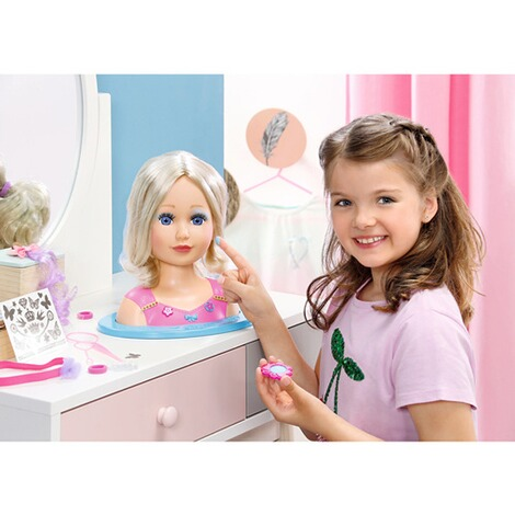 zapf baby born stylingkopf sister styling head online kaufen baby walz. Black Bedroom Furniture Sets. Home Design Ideas