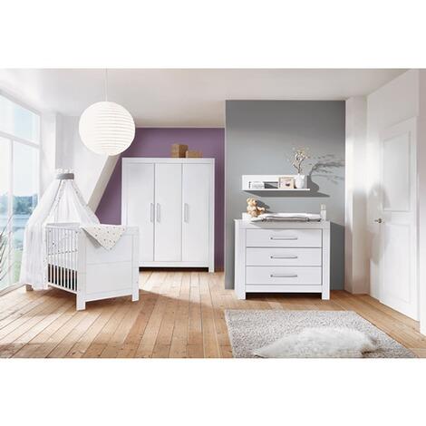 babyzimmer nordic white mit 3 trigem kleiderschrank