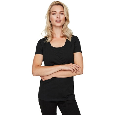 MAMALICIOUS®  2er-Pack Umstands- und Still-T-Shirt Lea Organic Cotton 7