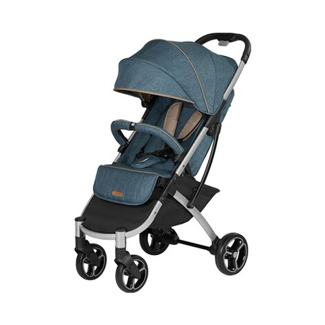 knorr-baby PREMIUM X-Easy-Fold  Buggy mit Liegefunktion  melange-jeans 1