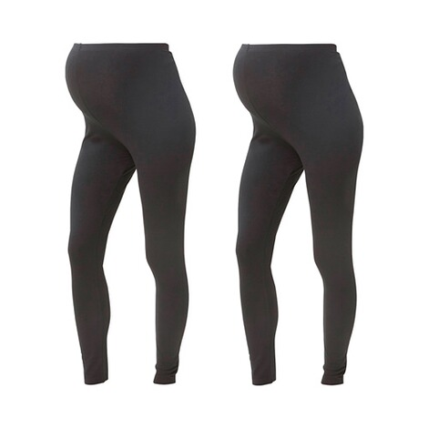 MAMALICIOUS®  2er-Pack Umstands-Leggings Organic Cotton 1