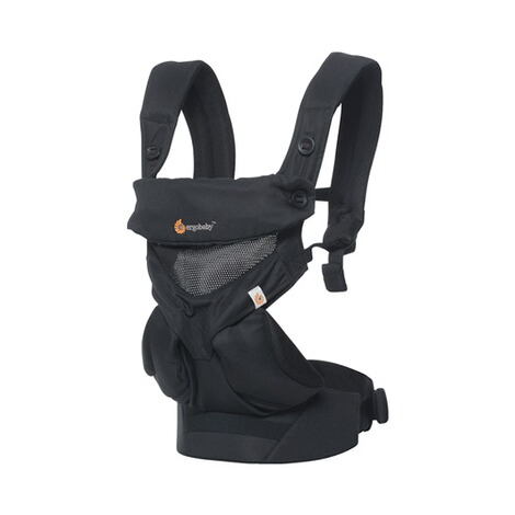 7d8b1d9045de Ergobaby® 360 Porte-bébé Cool Air Mesh, 4 positions de portage Onyx Black  ...