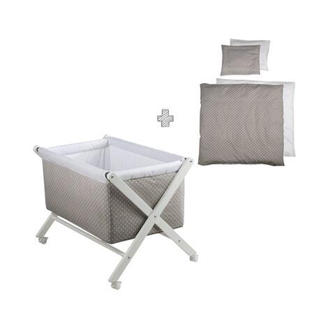 Berceau pliable avec tour de lit et linge de lit