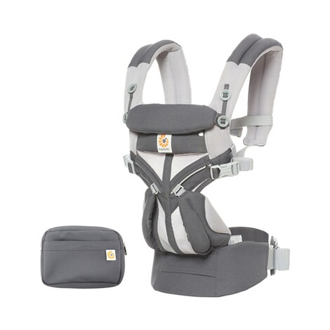 Ergobaby® OMNI 360 Cool Air Mesh Babytrage, 4 Tragepositionen  CarbonGrey 5