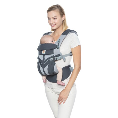 Ergobaby® OMNI 360 Cool Air Mesh Babytrage, 4 Tragepositionen  CarbonGrey 7