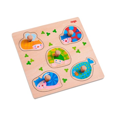 Haba  Puzzle multicolore avec boutons Animaux 1