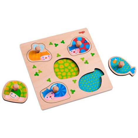 Haba  Puzzle multicolore avec boutons Animaux 2