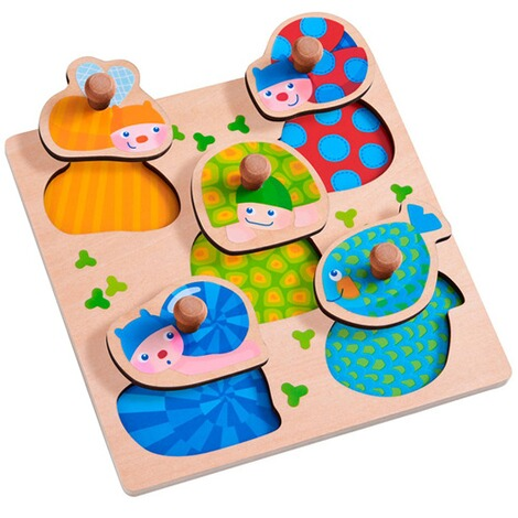 Haba  Puzzle multicolore avec boutons Animaux 4