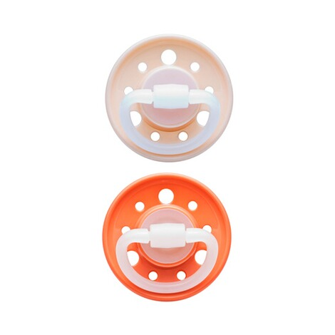 nip  2er-Pack Schnuller Cherry Kirschform ab 6M  beige/orange 1