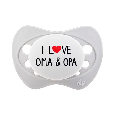 nip  Schnuller Special Edition 16-32M  I love Oma & Opa 1